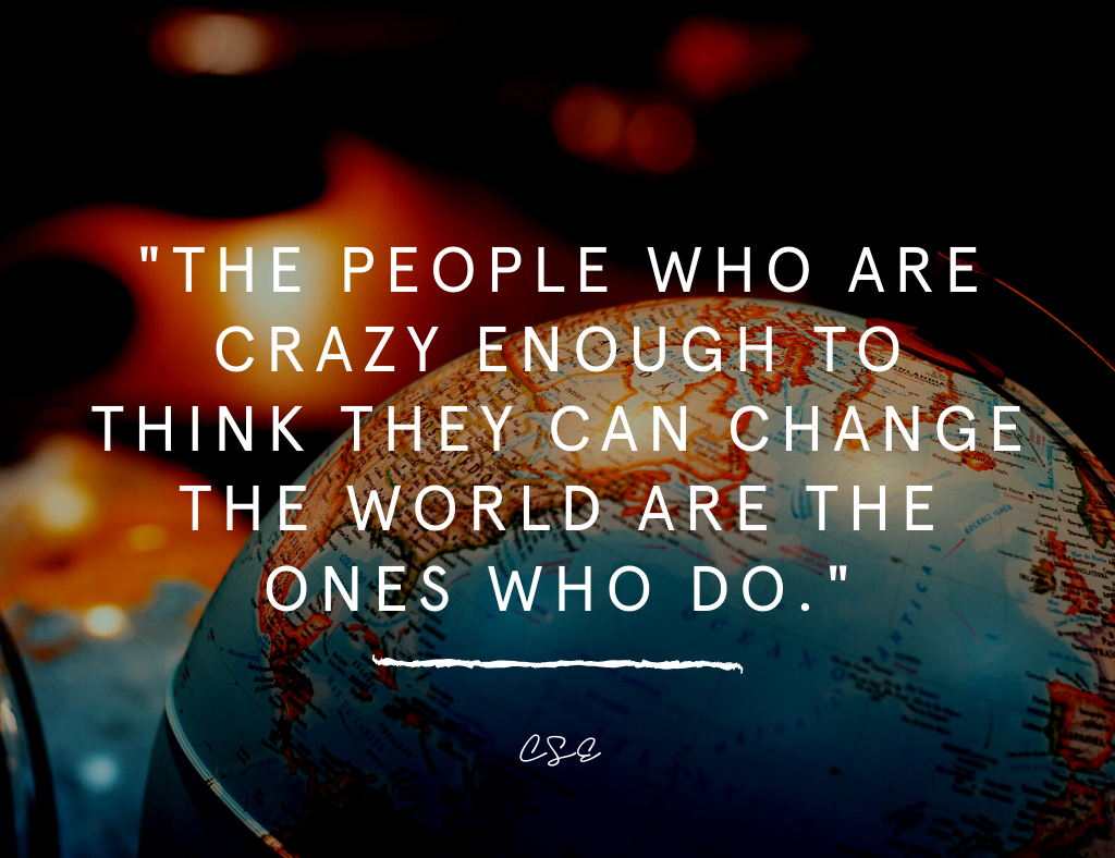 Music, Quotes & Coffee - Quote about being crazy  enough to change the world