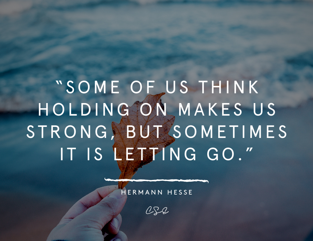 Music, Quotes & Coffee - picture of a quote by herman hesse about letting go