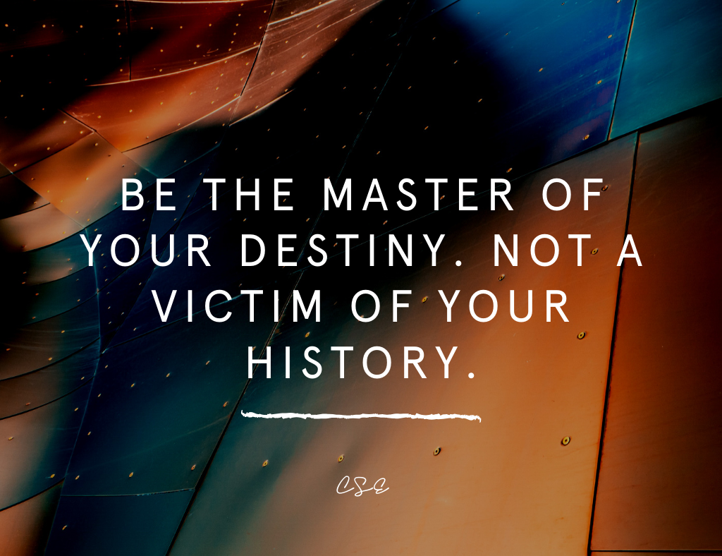 Music, Quotes & Coffee - picture of a quote about being the master of your destiny