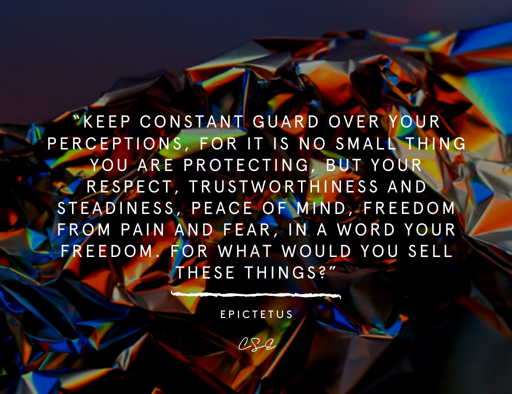 Picture of a Quote By Epictetus about Perceptions