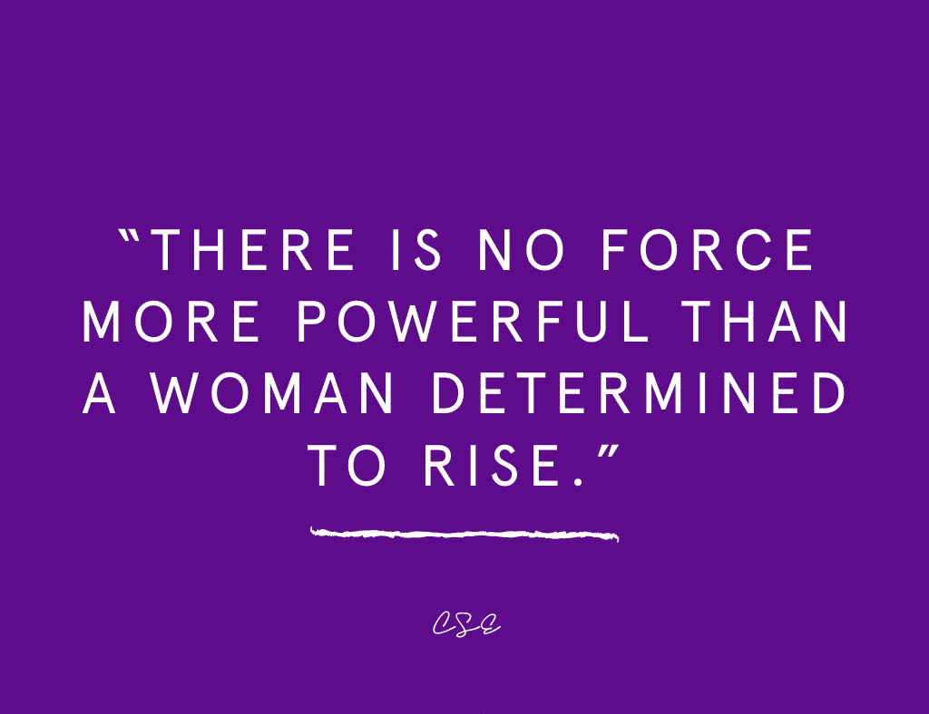 There is no more fore more powerful than a woman