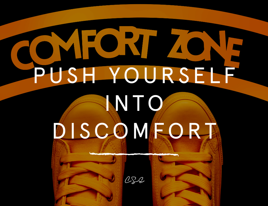 Music, Quotes & Coffee - picture of a quote about pushing yourself into discomfort