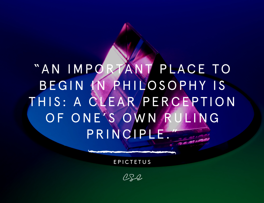 Music, Quotes & Coffee - picture of a quote by epictetus about principles